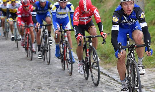 Tony Martin riding on the cobbles